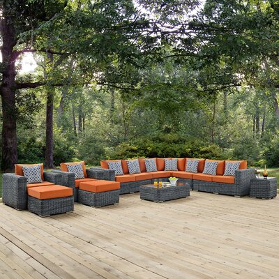 Summon 11 Piece Deep Seating Group Fabric: Tuscan
