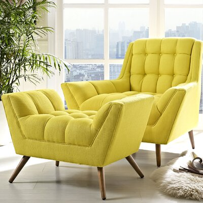 Response 2 Piece Living Room Set Color: Sunny