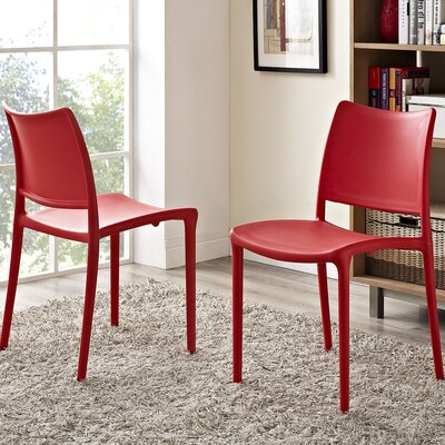 Hipster Side Chair Color: Red