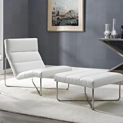 Reach 2 Piece Living Room Set Color: White