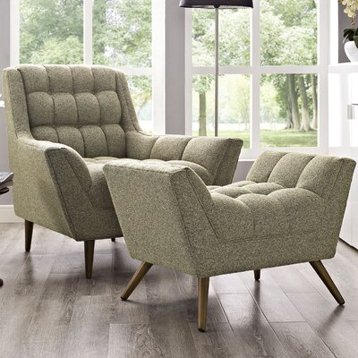Freeborn Armchair with Ottoman Color: Oatmeal