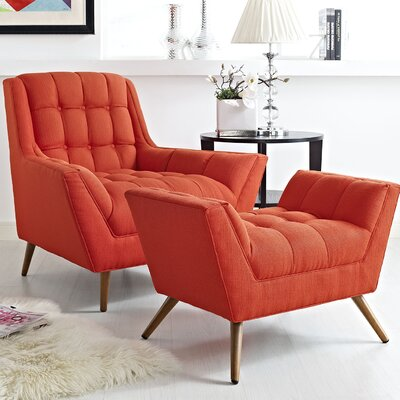 Response 2 Piece Living Room Set Color: Atomic Red