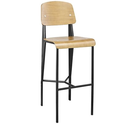Dunkelberger 29 Bar Stool Upholstery: Natural/Black