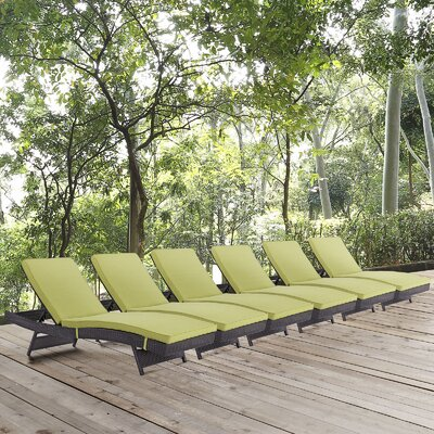 Convene Chaise Lounge with Cushion Fabric: Peridot