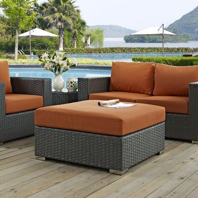 Sojourn Ottoman with Cushion Fabric: Tuscan