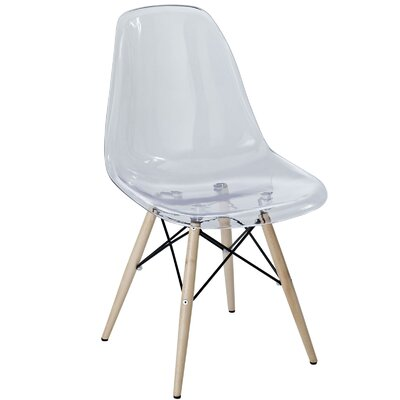Pyramid Solid Wood Dining Chair Color: White
