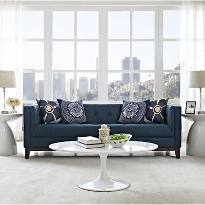 Serve Chesterfield Sofa Upholstery: Azure