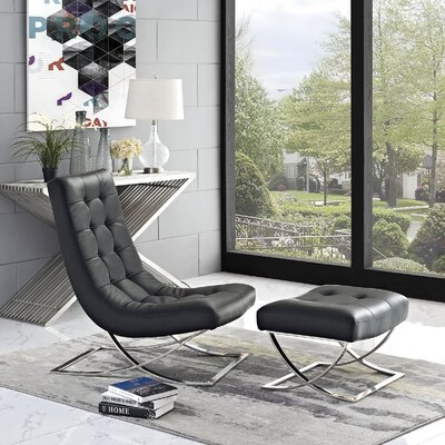 Slope 2 Piece Living Room Set Color: Black