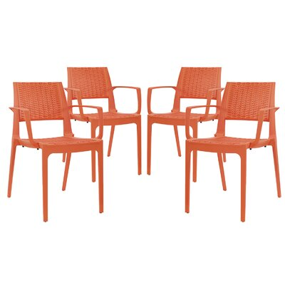 Astute Arm Chair Finish: Orange