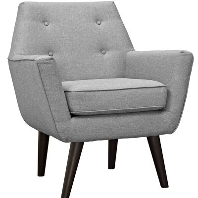 Poist Arm Chair Upholstery: Light Gray