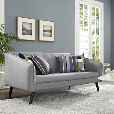 Slide Loveseat Upholstery: Light Gray