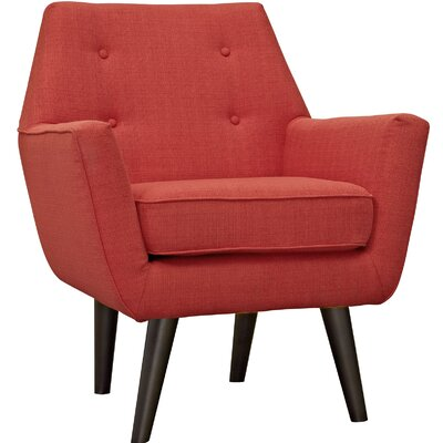 Poist Armchair Upholstery: Atomic Red