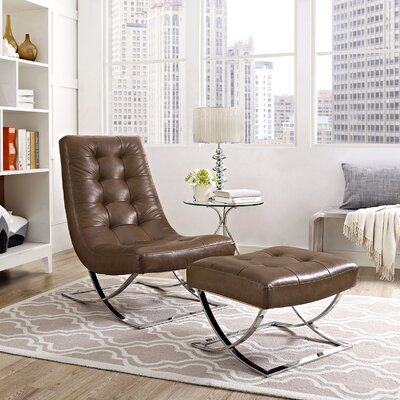 Slope 2 Piece Living Room Set Color: Brown