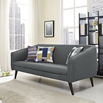 Slide Loveseat Upholstery: Gray