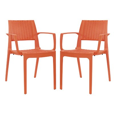 Astute Arm Chair Color: Orange