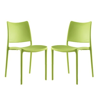 Hipster Side Chair Finish: Green