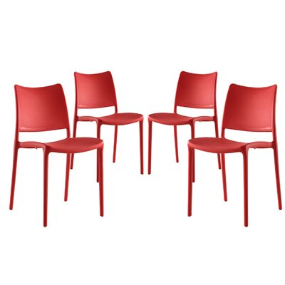Hipster Side Chair Finish: Red