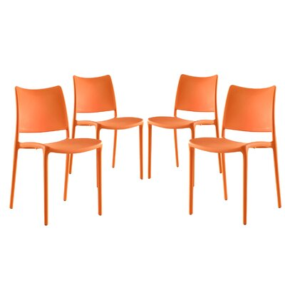 Hipster Side Chair Color: Orange