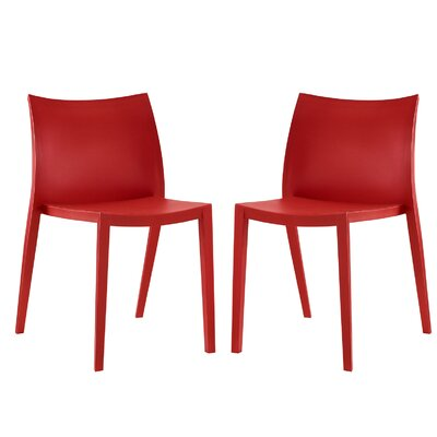 Gallant Side Chair Color: Red