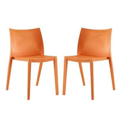 Gallant Side Chair Color: Orange