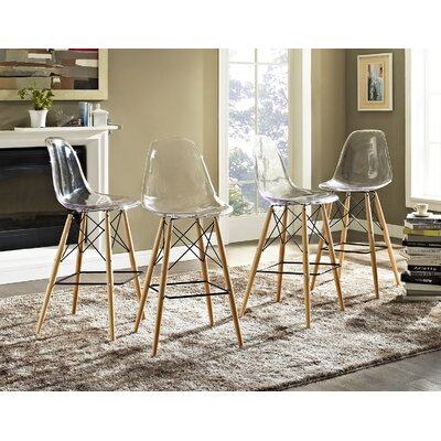 Pyramid 29.5 Bar Stool Seat Color: Clear
