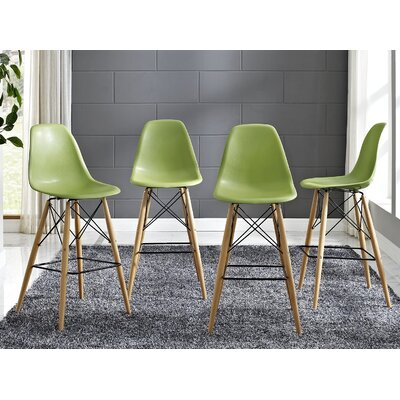 Pyramid 29.5 Bar Stool Seat Color: Light Green