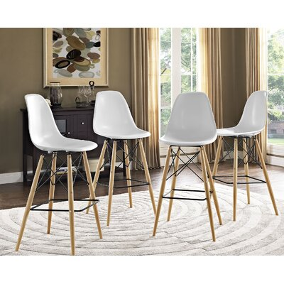 Pyramid 29.5 Bar Stool Seat Color: White