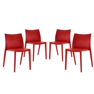 Gallant Side Chairs Color: Red