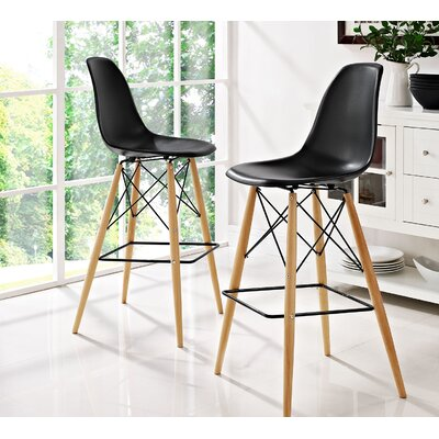 Pyramid 29.5 Bar Stool Seat Color: Black