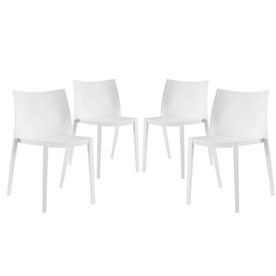 Gallant Side Chairs Finish: White