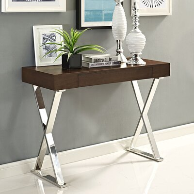 Sector Console Table Finish: Brown