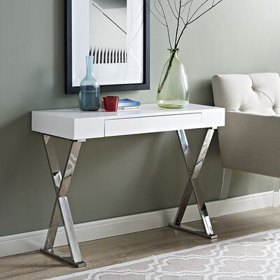 Sector Console Table Finish: White