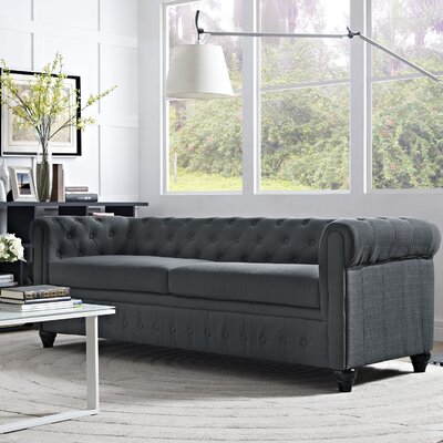 Earl Chesterfield Sofa Finish: Gray