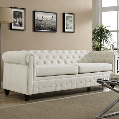 Earl Chesterfield Sofa Color: Beige