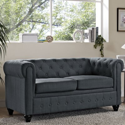 Earl Chesterfield Loveseat Finish: Beige