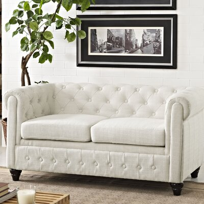Earl Chesterfield Loveseat Color: Gray