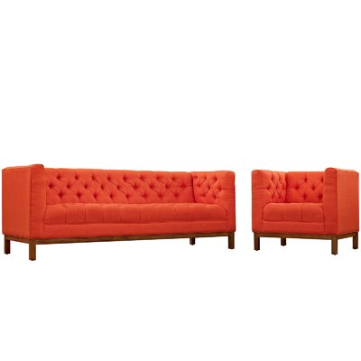 Panache 2 Piece Living Room Set Upholstery: Atomic Red