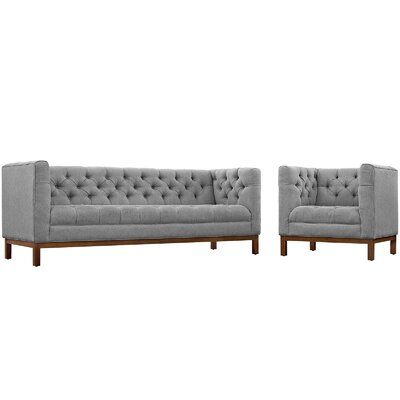 Panache 2 Piece Living Room Set Upholstery: Expectation Gray
