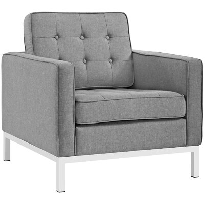 Gayatri 3 Piece Living Room Set Upholstery: Light Gray