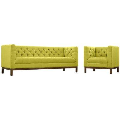 Panache 2 Piece Fabric Living Room Set Upholstery: Wheatgrass