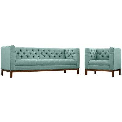 Panache 2 Piece Fabric Living Room Set Upholstery: Laguna