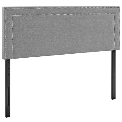 Eyre Upholstered Wood Panel Headboard Size: Full, Upholstery: Light Gray