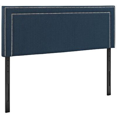 Eyre Upholstered Wood Panel Headboard Size: King, Upholstery: Azure