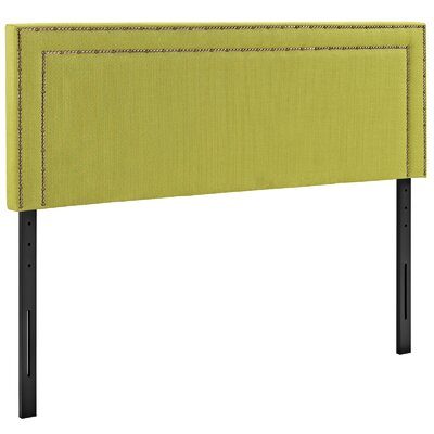Eyre Upholstered Wood Panel Headboard Size: King, Upholstery: Wheatgrass
