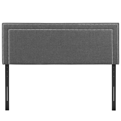 Eyre Upholstered Wood Panel Headboard Size: Full, Upholstery: Gray