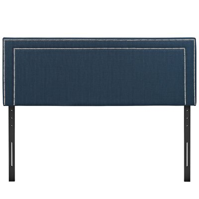 Eyre Upholstered Wood Panel Headboard Size: King, Upholstery: Azure