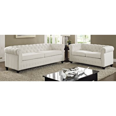 Earl 2 Piece Living Room Set Upholstery: Beige
