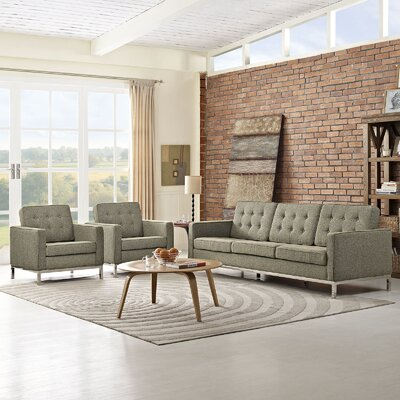 Gayatri 3 Piece Living Room Set Finish: Oatmeal
