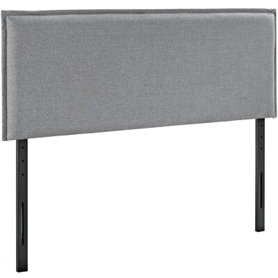 Chmura Upholstered Panel Headboard Size: Queen, Upholstery: Light Gray