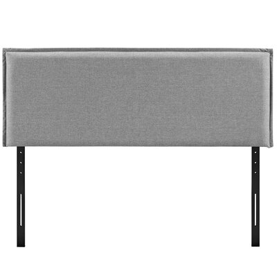 Camille Upholstered Panel Headboard Upholstery: Light Gray, Size: Queen